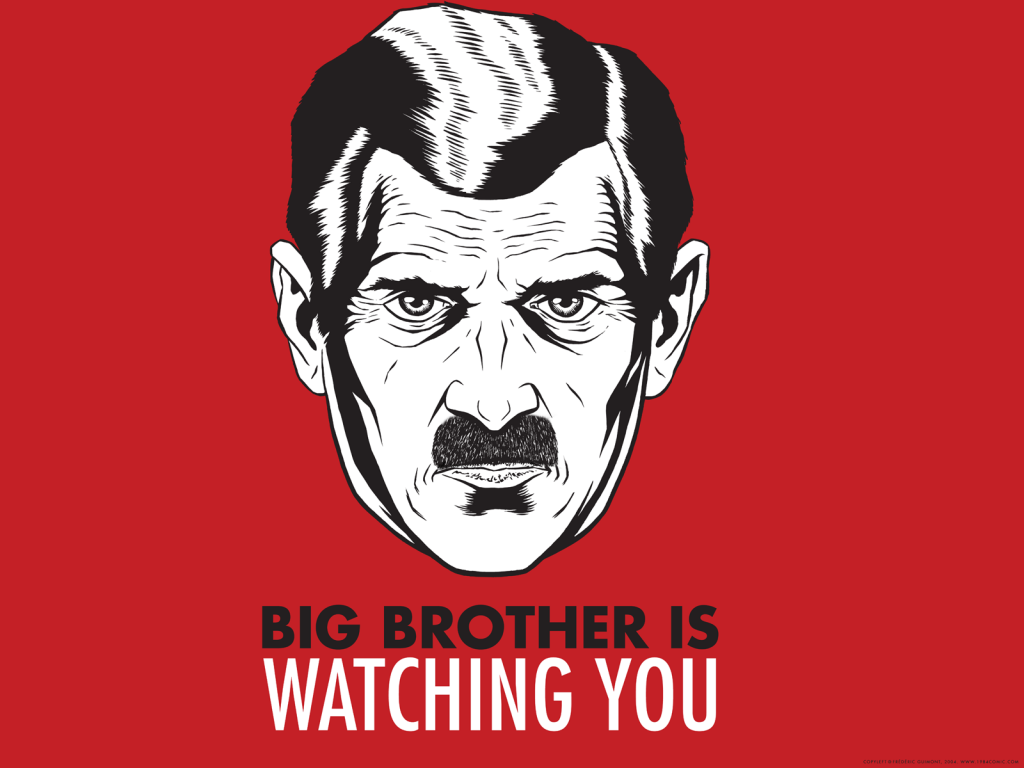 Big Brother's myth from George Orwell in 1984
