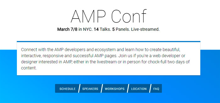 AMP Conference NYC 2017